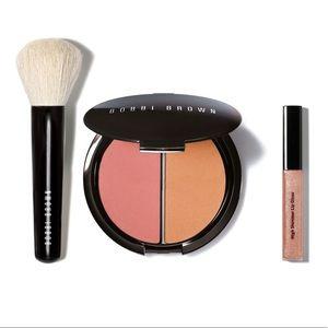 Bobbi brown blush contour lip gloss kit